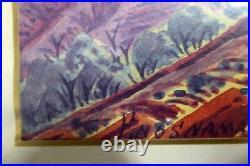 Enos Namatjira Australian Aboriginal Hermannsburg Watercolour Painting