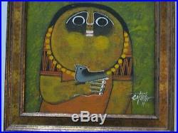 Estrella Painting Filipino Modernist Creature Portrait Expressionism Vintage