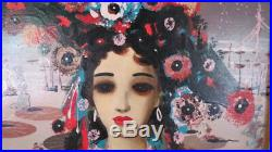 F. Giovanni Mid Century Surrealist Impasto Calogero Big Eye vintage