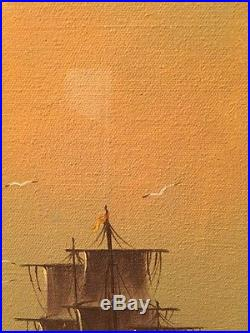 Famous Artist GARCIA Vintage Mid Century Oil Painting Signed Original