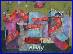 Ferruccio Painting Abstract Modernism Expressionism Surrealism Cubism Vintage
