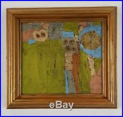 Fitzpatrick Connecticut Vintage Mid Century Abstract Modernist Oil Painting MCM
