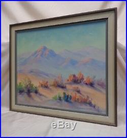 Florence Sheblak (1877-1946) Estate Found Vintage Mountain Desert Oil Painting
