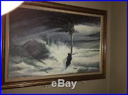 Florida Highwaymen Johnny Daniels Hurricane Scene Mega rare Collector Piece