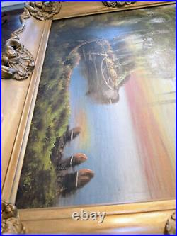 Florida Highwaymen Oil on Board Original Painting Signed White