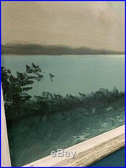 Florida Highwaymen Sam Newton Moonlight Moss 38x26 Original Oil On Upsom 1960s