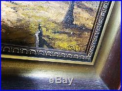 Framed vintage H. Kuljurgies Original Landscape oil painting Size 28X35cm signed