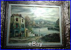 France Painting Mid-Century Vintage Antique Old Oil Signed R. BESSE (1899-1969)