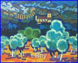 GUY CHARON Original Signed Vintage 1960 French Landscape Oil Painting LISTED
