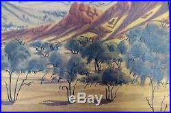Gabriel Namatjira Australian Aboriginal Hermannsburg Watercolour Painting