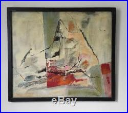 George Blais California Vintage Mid Century Abstract Expressionism Oil Painting
