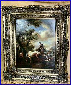 George Herbert Rose Signed 1950 Reproduction Transfer To Canvas Painting