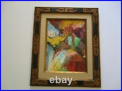 Gerald Payne Rowles B. 1929 Painting Abstract Expressionist Modernism Vintage