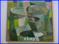 Gerald Payne Rowles Painting Vintage Abstract Expressionism Cubist Cubism Pop