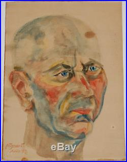 German Expressionist Original, Vintage, Signed Watercolor, Ilkahöhe, 1922