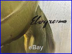 Gil Elvgren LOLA ORIGINAL Vintage PAINTING Pin-Up SeeThrough Lingerie PINUP