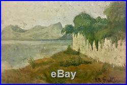 Giorgio Morandi Landscape Painting Italian Art 1922 Signed Listed 03436
