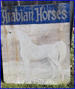 Gladys Edward Brown White Arabian horse double sided HUGE outdoor Sign VINTAGE