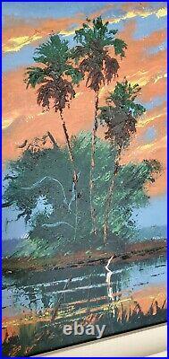 Gorgeous Signed vintage Florida Highwaymen Painting John Maynor The Hammock