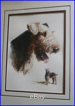HANK RICHTER, LISTED SIGNED VINTAGE CANINE DOG TERRIER, Arizona ILLUSTRATOR AZ