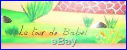 Haitian Painting, Vintage Le Tour de Babel by Maurice Vital