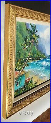Hawaiian Vintage BEVERLY FETTIG Palette Knife Oil PAINTING of HAWAII Excellent