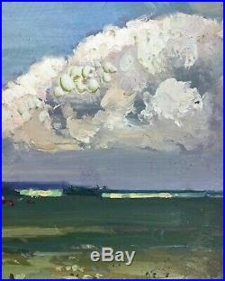Herbert Rollett (1872-1932) Signed Antique Impressionist Oil On Board Landscape