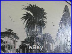 Highwaymen Painting Gibson Sofa Size Vintage Signed On Upson Board