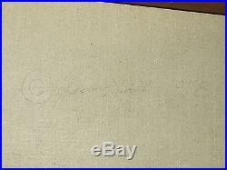 Huge 48 Vintage Framed Signed Maritime Boat Ship Oil Painting Herb Hewitt 1978