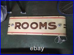 Illuminated Rooms hand painted vintage sign