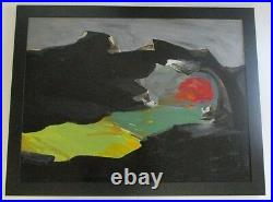 JAN STUSSY (b. 1921) LISTED CALIFORNIA MODERNIST VINTAGE EXPRESSIONISM PAINTING