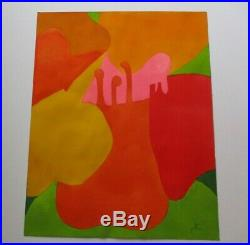 Jae Carmichael Vintage Painting Non Objective Modernism Abstract Expressionist