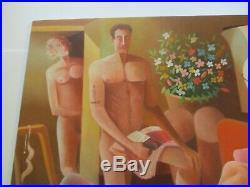 Jaimendes Vintage Nudes Nude Brazil Modernist Modernism Colorful Expressionism