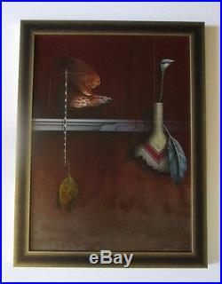 James Carter Painting Original Surreal Realism Modernism Abstract Vintage Vessel
