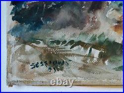 James Milton Sessions Original Watercolor Tropical Beach