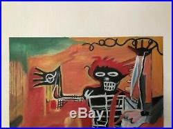 Jean Michel Basquiat Oil Painting On Canvas Signed Sealed 20 X 25.5'