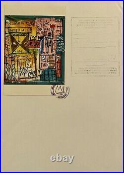 Jean-Michel Basquiat Original Vintage Painting on Canvas 1983 Estate COA. Doc