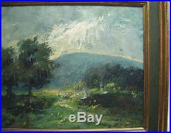 John Koenig Vintage Impressionist Mountain Landscape Listed New Mexico Artist
