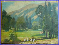 John W Sherman, Listed Plein Air California Landscape Impressionist Vintage Oil