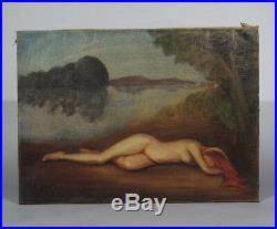 Juan José Segura (1901-1964) Vintage French Mexican Painting Nude Woman 1932
