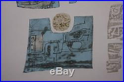 K. B. Hwang VINTAGE ABSTRACT MEZZOTINT MID CENTURY MODERN LISTED Korean NY Signed