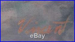 LARRY VINCENT GARRISON Original Signed Vintage Mid Century Nude Oil Painting