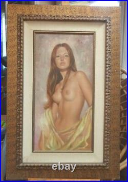 LEO JANSEN Nude Woman -Large Oil Painting, Framed, signed front and back