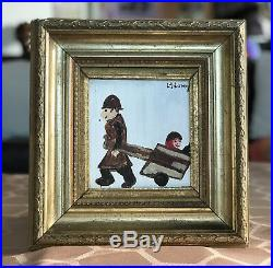 LS Lowry Oil Painting Hand Signed Dated Vintage