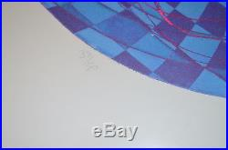 L'oeil by Stanley William Hayter, signed, limited to 30,1971, metal frame, vintage