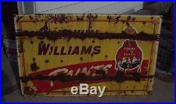 Large Antique Porcelain Sherwin Williams Paints sign Gas Oil Vintage signs