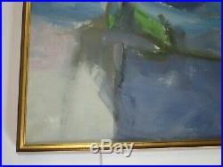 Large Vintage 1960's To 1970's Abstract Expressionism Painting Modernist Signed