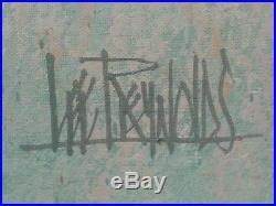 Large Vintage Mid Century Modern Lee Reynolds Original Signed Framed Oil
