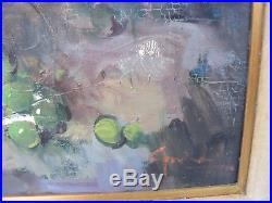 Large Vintage Oil On Canvas Gallery Still Life Painting Signed Guidi