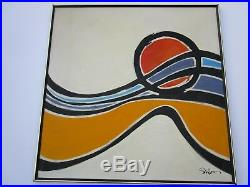 Large Vintage Painting Abstract Expressionism 40 Inches Modernism Non Objective